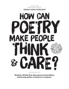 How Can Poetry Make People Think and Care? Lesson Plan for