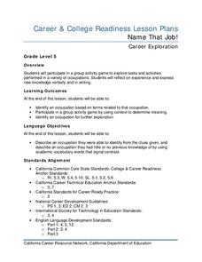 Name That Job! Lesson Plan