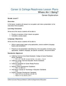 Where Am I Going? Lesson Plan