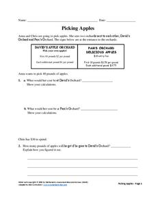 Picking Apples Assessment