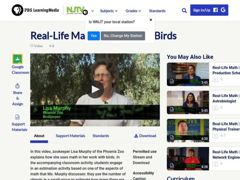 Real-Life Math | Zoo Keeper, Birds Video