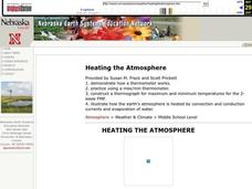 Heating the Atmosphere Lesson Plan