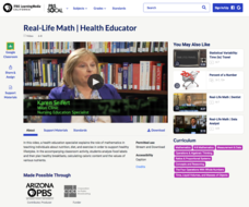 Real-Life Math | Health Educator Video