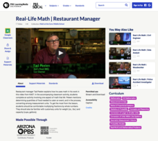 Real-Life Math | Restaurant Manager Video