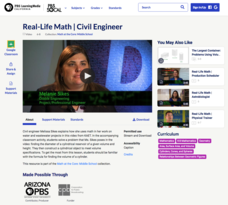 Real-Life Math | Civil Engineer Video