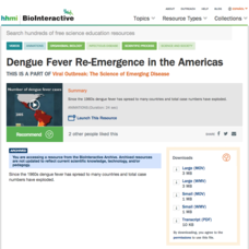 Dengue Fever Re-Emergence in the Americas Video