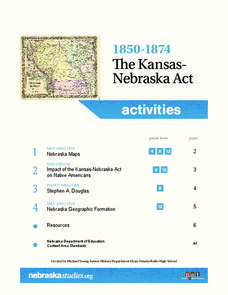 1850-1874 The Kansas-Nebraska Act Lesson Plan