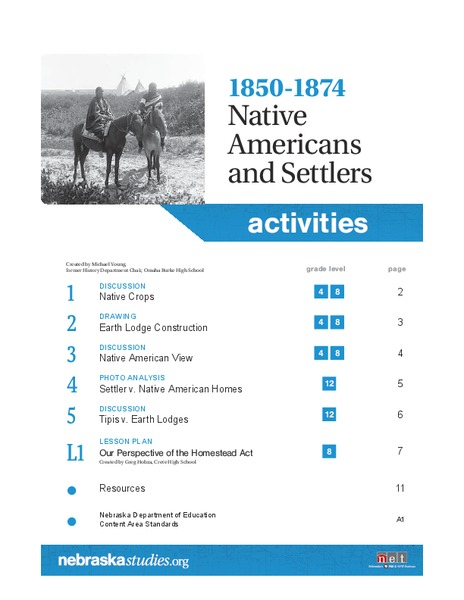1850-1874 Native Americans and Settlers Lesson Plan