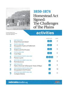 1850-1874 Homestead Act Signed: The Challenges of The Plains Lesson Plan