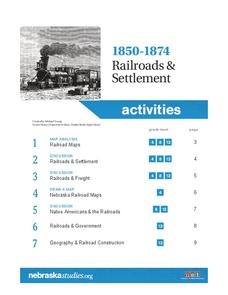 1850-1874 Railroads and Settlement Lesson Plan