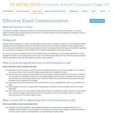 Effective Email Communication Website