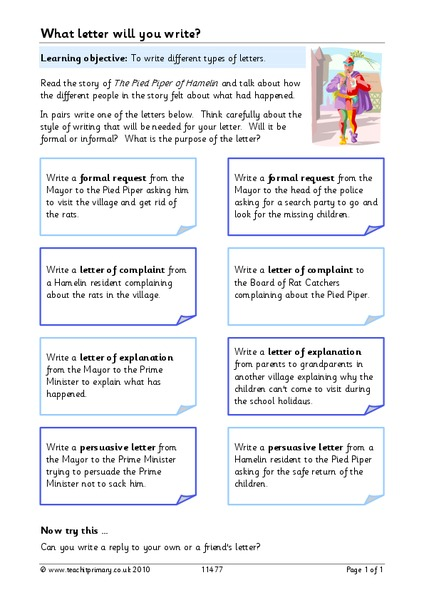What Letter Will You Write? Worksheet