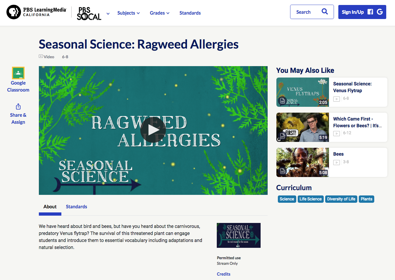Seasonal Science: Ragweed Allergies Video