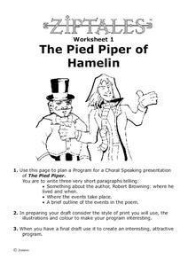 The Pied Piper of Hamelin Activities & Project