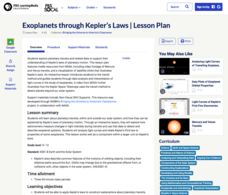 Exoplanets through Kepler's Laws Lesson Plan