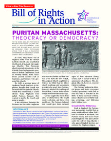 Puritan Massachusetts: Theocracy or Democracy? Activities & Project