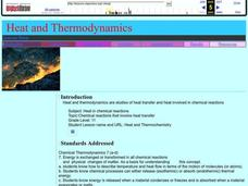 Heat and Thermodynamics Lesson Plan