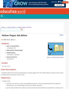 Yellow Pages Ad-dition Lesson Plan