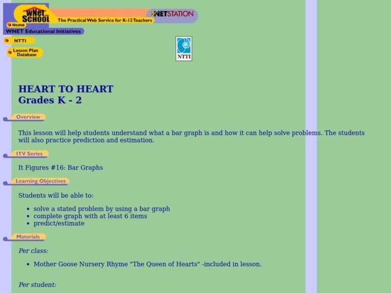 Heart to Heart Lesson Plan