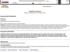 Health Careers Lesson Plan