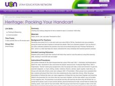 Heritage: Packing Your Handcart Lesson Plan