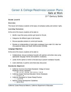Safe at Work Lesson Plan