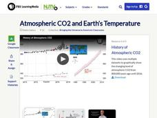 Atmospheric CO2 and Earth's Temperature Video
