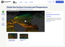 Global Sea Surface Currents and Temperature Video