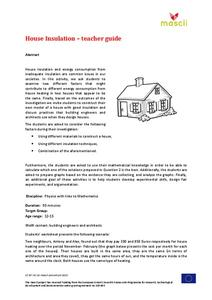 House Insulation Lesson Plan