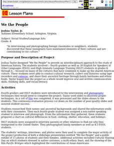 We the People  (Cultural Research) Lesson Plan