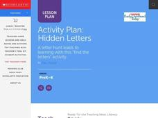 Hidden Letters Lesson Plan