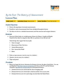 By the Foot: The History of Measurement Lesson Plan