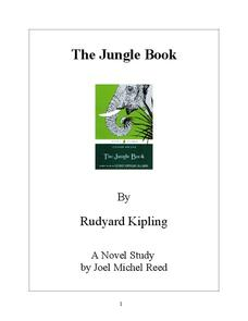The Jungle Book: A Novel Study Guide Activities & Project