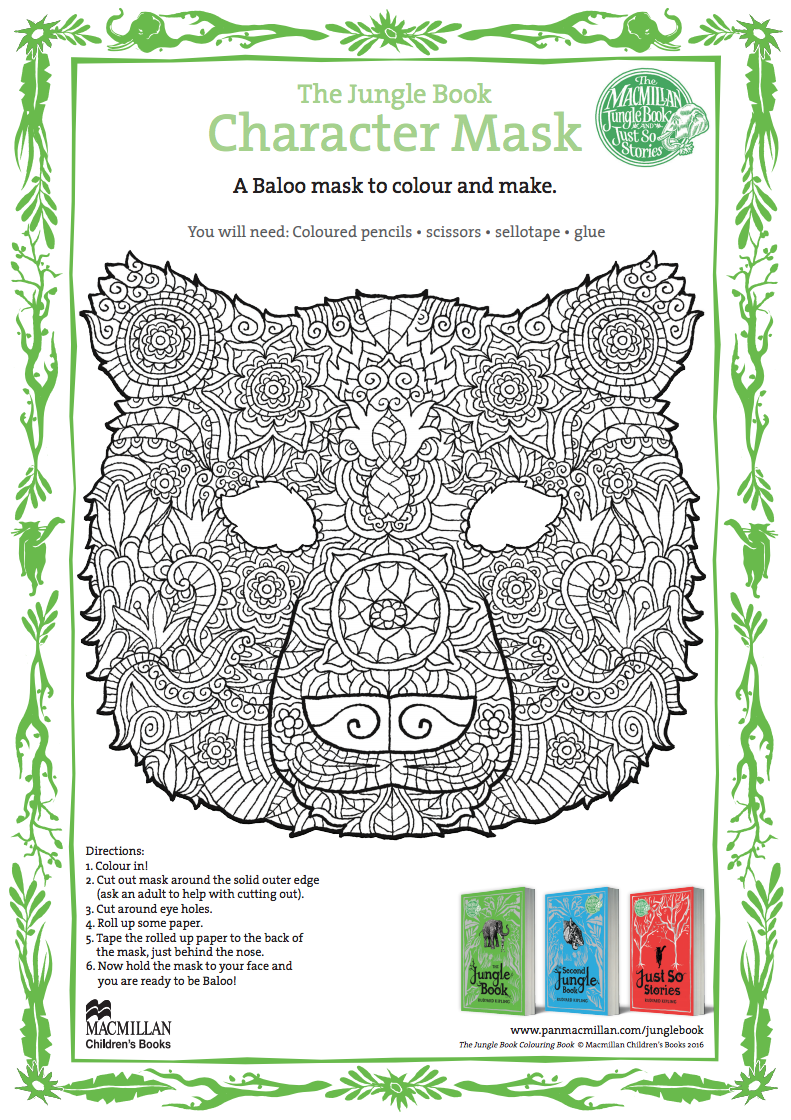 The Jungle Book Character Mask Printables & Template