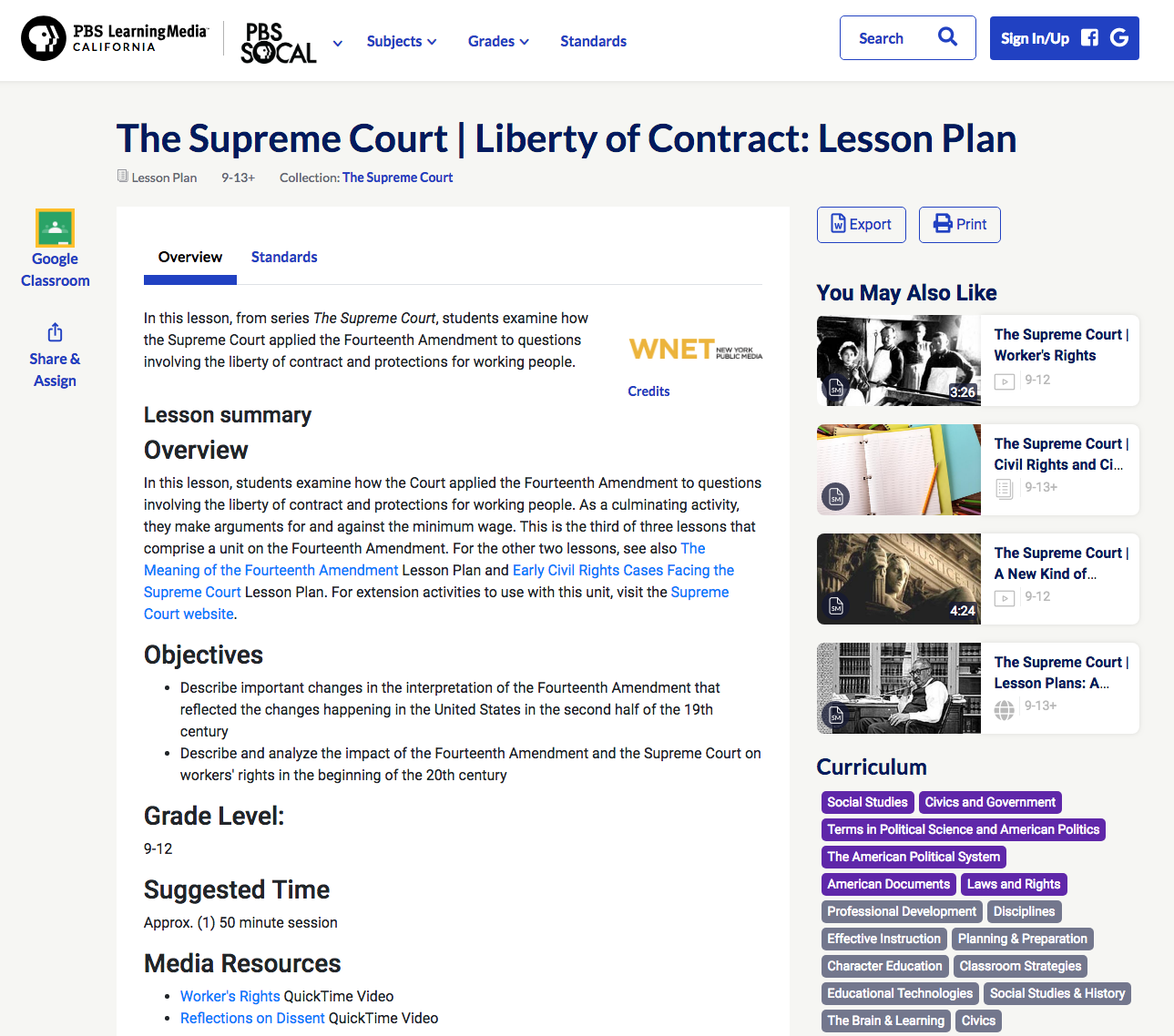 The Supreme Court: Liberty of Contract Lesson Plan