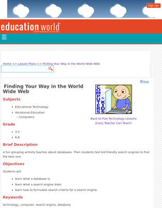 Finding Your Way in the World Wide Web Lesson Plan