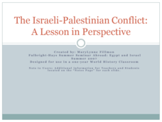 The Israeli-Palestinian Conflict: A Lesson in Perspective Presentation