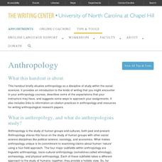 Anthropology Website