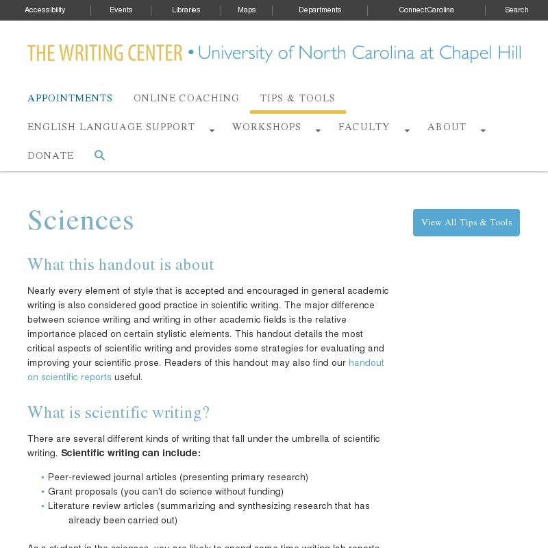 Sciences Website