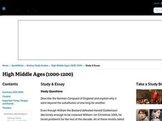 High Middle Ages (1000-1200) Interactive