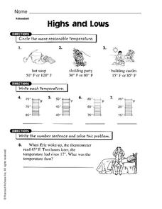 Highs and Lows Worksheet