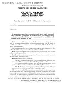 Global History and Geography Examination: January 2017 Assessment