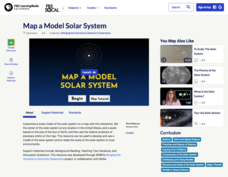Map a Model Solar System Interactive