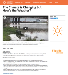 The Climate is Changing but How's the Weather? Video