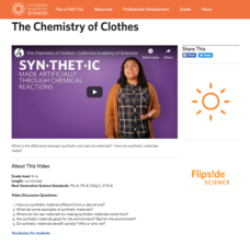The Chemistry of Clothes Video