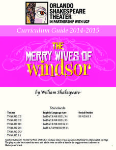 Merry Wives of Windsor: Study Guide Activities & Project