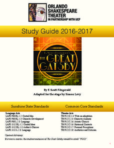 The Great Gatsby: Study Guide Activities & Project