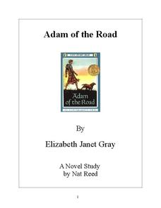Adam of the Road Novel Study Study Guide