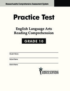 Practice Test - English Language Arts Reading Comprehension
