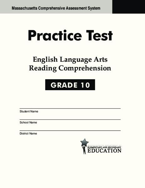 Practice Test - English Language Arts Reading Comprehension ...